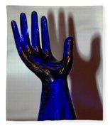 Cobalt Hand Fleece Blanket