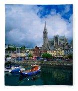 Cobh Cathedral & Harbour, Co Cork Fleece Blanket