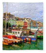 Cobh Town In Ireland Fleece Blanket