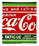 Coca-cola  Relieves Fatigue Fleece Blanket