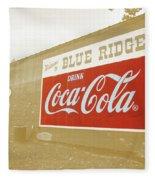 Coca-cola Sepia Fleece Blanket