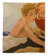 Coca Cola  Vintage Sign Fleece Blanket