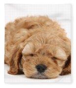 Cockapoo Pup Fleece Blanket
