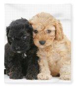 Cockerpoo Puppies Fleece Blanket