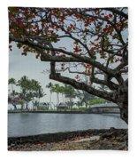 Coconut Island In Hilo Bay Hawaii Fleece Blanket