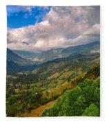 Cocora Valley Fleece Blanket