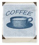 Coffee 1-2 Scrapbook Fleece Blanket