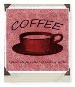 Coffee 2 Scrapbook Fleece Blanket