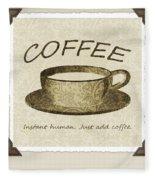 Coffee Cup 3 Scrapbook Fleece Blanket