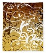 Coffee Flowers 1 Calypso Fleece Blanket