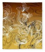 Coffee Flowers 2 Calypso Fleece Blanket
