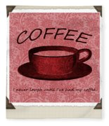 Coffee Flowers Scrapbook Triptych 1  Fleece Blanket