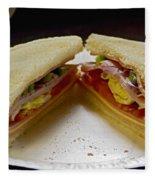 Cold Cut Sandwich Fleece Blanket