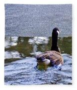 Cold Swim In The Pond Fleece Blanket