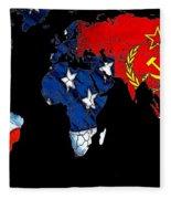 Cold War Map Fleece Blanket