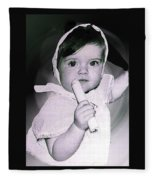 Colette 1 Year Old Direct Pappa Hans  To Take A Photography 2 Fleece Blanket