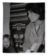 Colette With Mamma Chris In Their Ice Kiosk In Denmark At The Time  Fleece Blanket