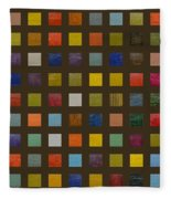 Collage Color Study Lll Fleece Blanket