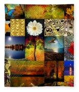 Collage Of Colors Fleece Blanket