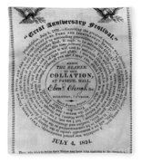 Collation Ticket, 1824 Fleece Blanket