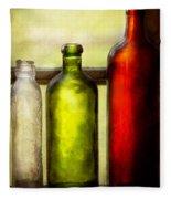 Collector - Bottles - Still Life Of Three Bottles  Fleece Blanket