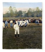 College Footbal Game, 1889 Fleece Blanket