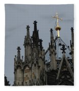Cologne Cathedral Towers Fleece Blanket