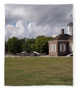 Colonial Williamsburg Scene Fleece Blanket