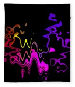 Color Melting Abstract Fleece Blanket