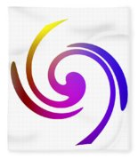 Color Spiral Fleece Blanket