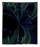 Color Study 02 Green Blue Fleece Blanket