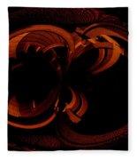 Color Study 03 Rust Fleece Blanket