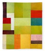 Color Study Abstract 9.0 Fleece Blanket