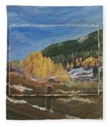 Colorado Almost Winter Fleece Blanket