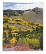 Colorado Autumn Aspens Colors Fleece Blanket
