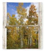 Colorado Autumn Aspens Picture Window View Fleece Blanket