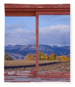 Colorado Country Red Rustic Picture Window Frame Photo Art Fleece Blanket