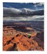 Colorado In The Distance Fleece Blanket