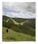 Colorado Mountain Freedom Fleece Blanket