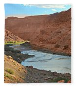 Colorado River Canyon 1 Fleece Blanket