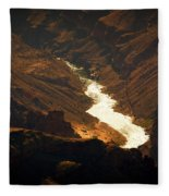 Colorado River Rapids Fleece Blanket