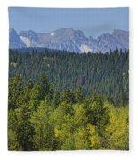 Colorado Rocky Mountain Continental Divide Autumn View Fleece Blanket