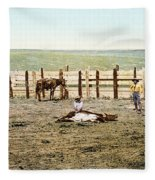 Colorado: Roping A Steer Fleece Blanket