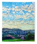 Colorado Skies 1 Fleece Blanket