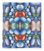 Colored Rocks Design Fleece Blanket