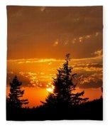 Colorfrul Sunset I Fleece Blanket