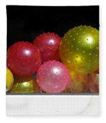 Colorful Balls In The Shop Window Fleece Blanket