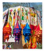 Colorful Banners At Surajkund Mela Fleece Blanket