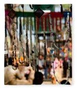 Colorful Beads At The Surajkund Mela Fleece Blanket