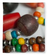 Colorful Beads In Chains Fleece Blanket